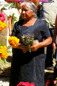 Doña Garcia with copal burner