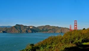 Golden Gate Bridge and Marin Headlands from the San Francisco Presidio