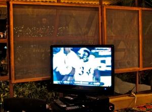 TV showing 2011 Super Bowl