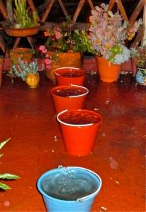 Full rain buckets