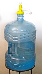 Garafon of water with plastic pump