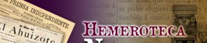 Masthead from Hemeroteca Nacional de México
