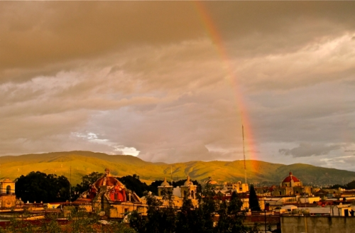 Rainbow over Oaxaca