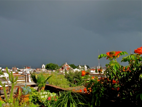 Dark sky over Oaxaca