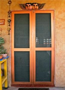 New wood frame screen door