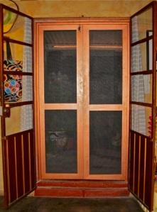 Screen door from inside apartment