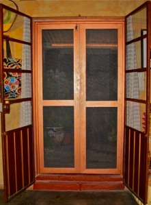 Screen door from inside apartment