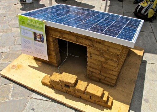 Small model of a solar thermal house