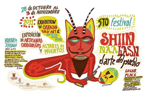 Poster for the exposition of Oaxacan folk art on Oc. 28 - Nov. 3