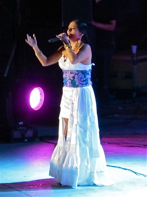 Lila Downs in white