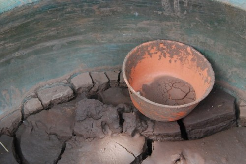 Clay pot in ancient kiln