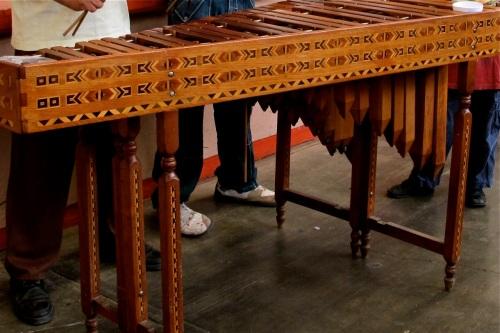 Parquetry detail on marimba