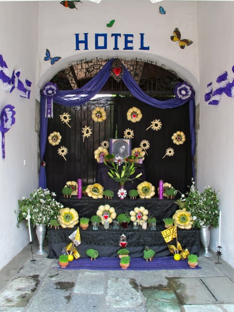 Altar at Hotel Las Mariposas