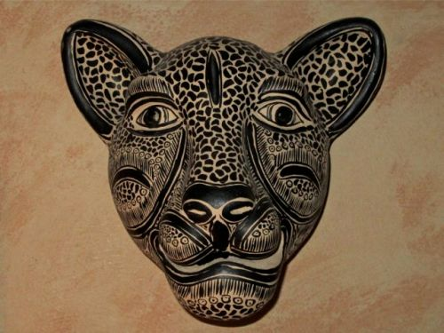 Ceramic jaguar head