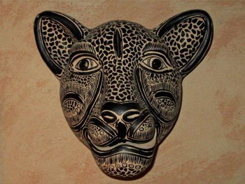 Ceramic jaguar head