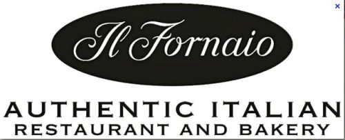 Oval sign: Il Fornaio Authentic Italian Restaurant and Bakery