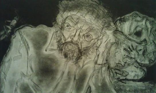 Aquatint etching