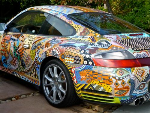 Porche painted decoration