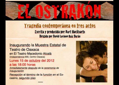 El Ostrakón home web page screenshot.