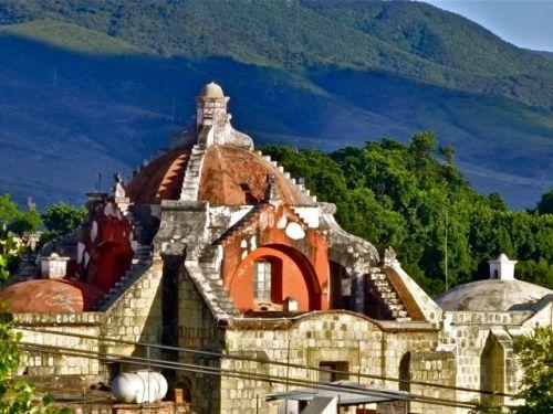 Terracotta dome of San Felipe Neri