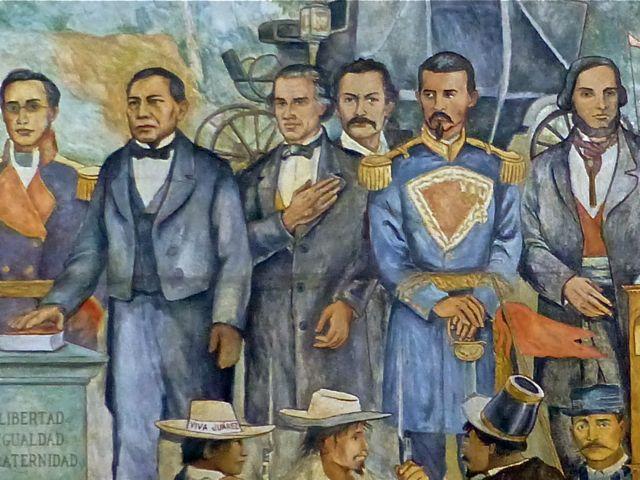 Mural of oaxaca history view from casita colibr for Benito juarez mural