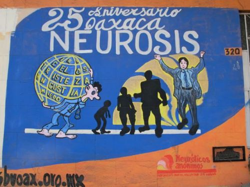 Sign for Neuroticos Anónimos