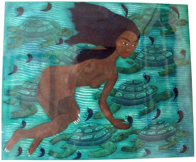 Painting from fundraising auction by the Oaxaca Lending Library, 2010.