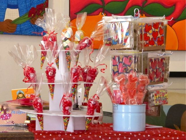 Candy display on counter