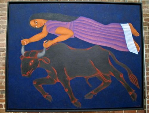 """El Rapto"" at the The Magic Surrealists of Oaxaca exhibition 2012, San Francisco, CA."