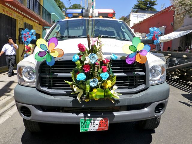 decorated garbage trucks