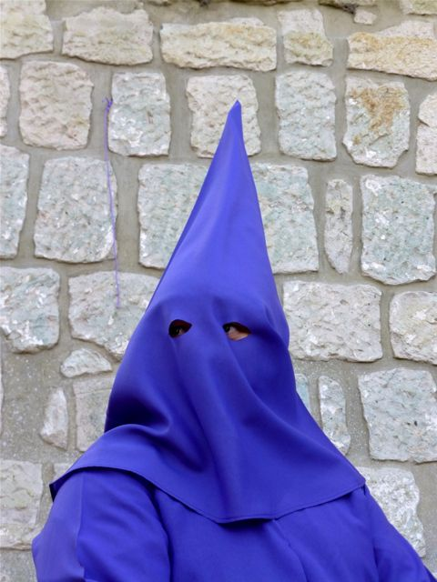 Purple hooded penitent