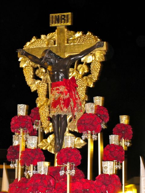 Señor de Esquipulas during the Procession of Silence, Good Friday 2013
