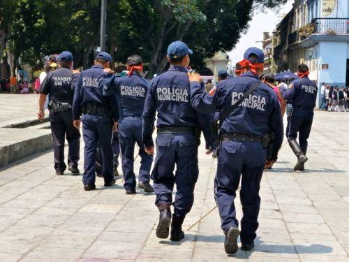 Blindfolded Municipal Police