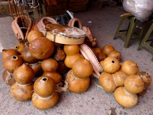 piles of gourds