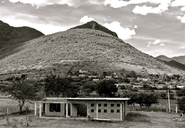 El Picacho from rooftop terrace.