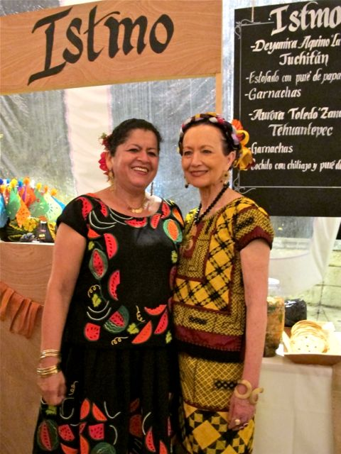 Aurora Toledo of Zandunga restaurant with chef and evening honoree, Patricia Quintana.