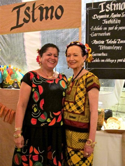 Aurora Toledo of Zandunga restaurant with chef and evening honoree, Patricia Quintana.