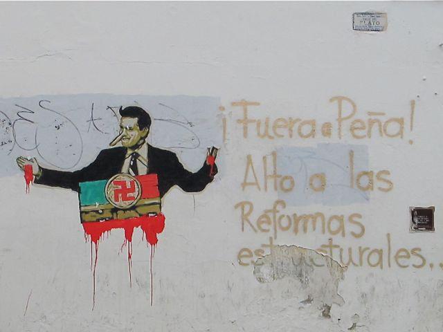 Wall in Oaxaca city.