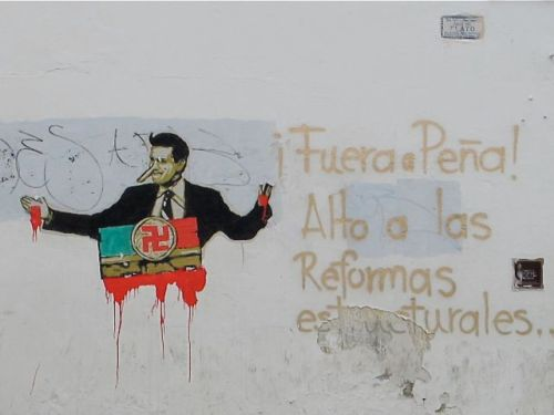 Wall in Oaxaca city.