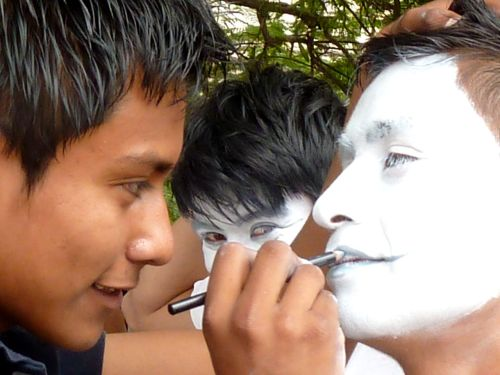 Close-up of face painting