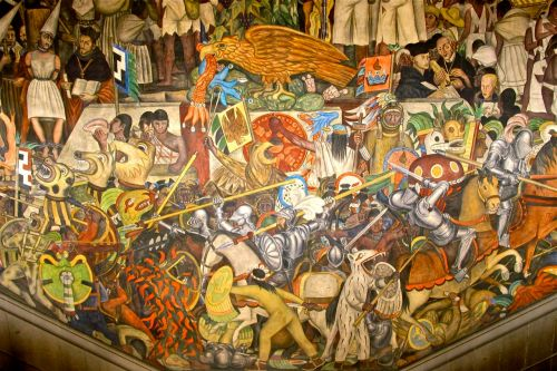 History of Mexico by Diego Rivera, 1931 - National Palace, Mexico City.