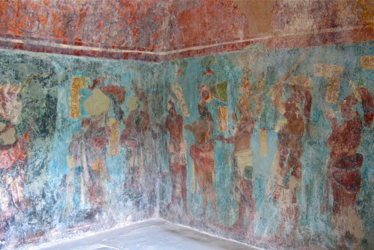 Maya fresco circa 790 C.E. - Bonampak, Chiapas