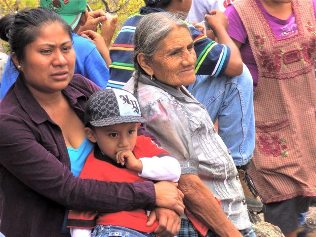 3 generations on top of El Picacho, Teotitlán del Valle