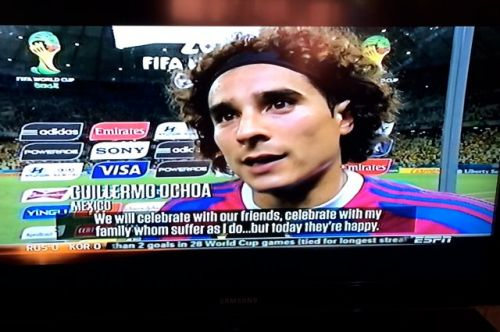 Screenshot of Guillermo Ochoa