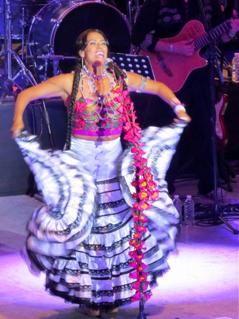 Lila Downs fluttering skirt
