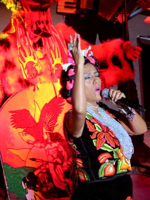 Lila Downs arm raised