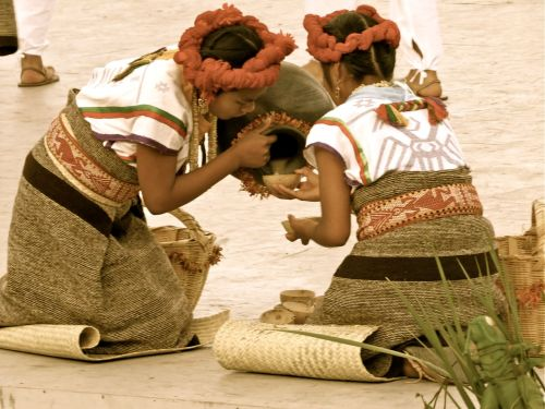 Mixtec dancers from San Antonio Huitepec at La Guelaguetza, July 21, 2014.