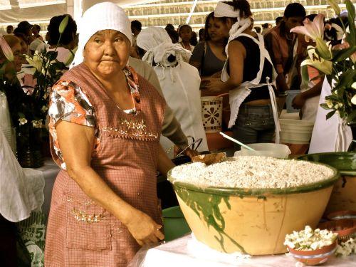 Zapotec woman at Oaxaca's Feria del Tejate y del Tamal - July 23, 2014