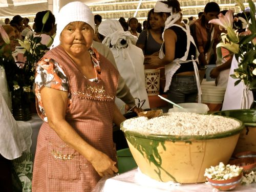 Zapotec woman at Oaxaca's Feria del Tejate y del Tamal - July 23, 2014