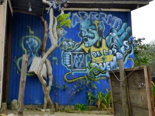 Mural on wall, La Taberna de los Duendes